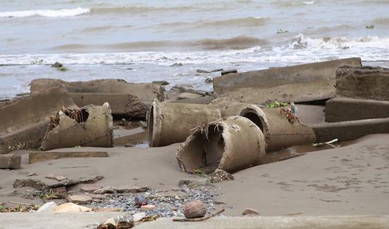 Nam Định: Bờ kè biển trăm tỷ đổ nát