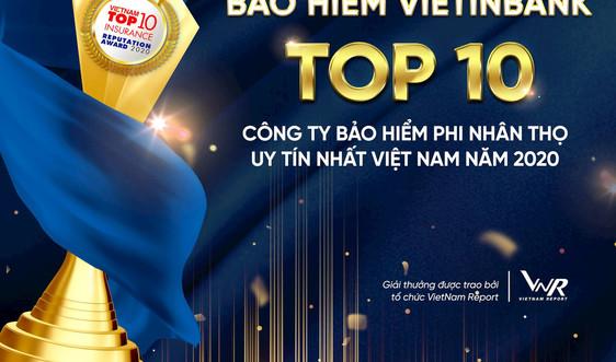 Bảo hiểm Vietinbank 5 năm liên tiếp trong Top 10 công ty bảo hiểm nhân thọ uy tín nhất Việt Nam