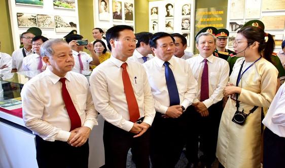 Trưởng Ban Tuyên giáo Trung ương Võ Văn Thưởng dự lễ khánh thành Công viên văn hóa và Khu lưu niệm Tố Hữu
