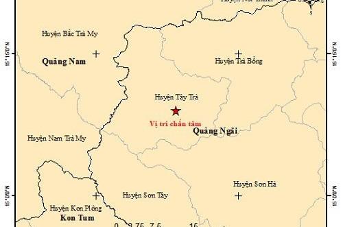 Quảng Ngãi: Liên tiếp xảy ra động đất