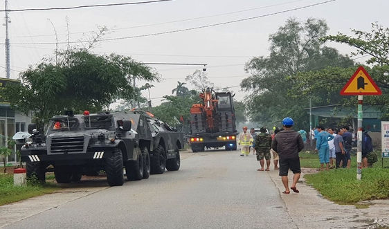 Ban QLDA đường Hồ Chí Minh huy động thiết bị mở đường vào ứng cứu sự cố thủy điện Rào Trăng 3