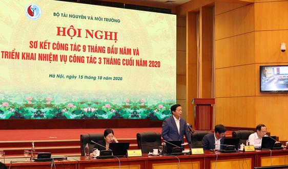 Bộ TN&MT sơ kết công tác 9 tháng đầu năm, triển khai nhiệm vụ 3 tháng cuối năm 2020
