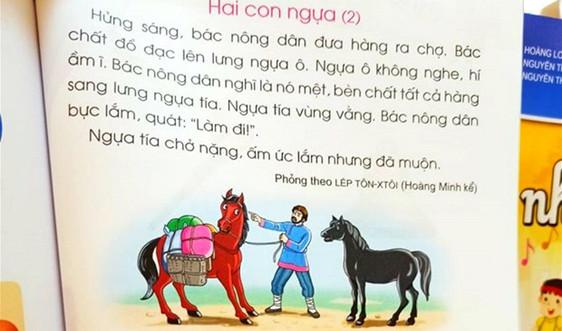 Điều chỉnh nội dung sách giáo khoa Tiếng Việt lớp 1 của bộ sách Cánh Diều