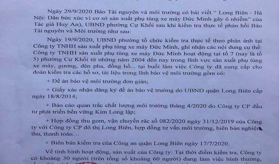 Long Biên - Hà Nội: Kiểm tra doanh nghiệp người dân nghi ngờ gây ô nhiễm