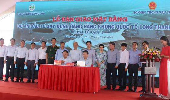 Bàn giao mặt bằng Dự án đầu tư xây dựng Cảng HKQT Long Thành giai đoạn 1