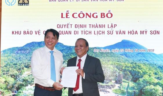 Quảng Nam: Thành lập Khu bảo vệ cảnh quan di tích lịch sử văn hóa Mỹ Sơn