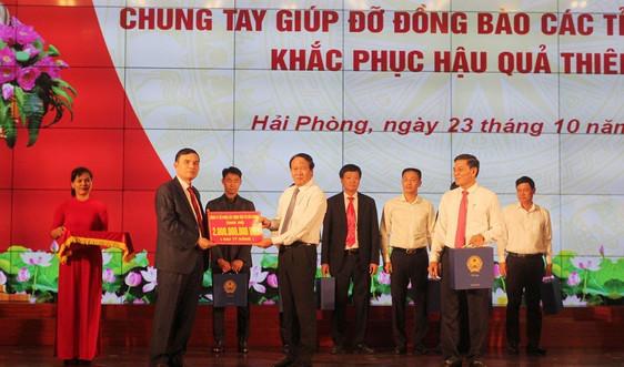Hải Phòng: Cộng đồng doanh nghiệp chung tay góp hơn 90 tỷ đồng giúp đỡ đồng bào miền Trung
