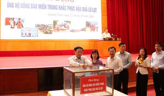 Nhiều cơ quan, tổ chức, đoàn thể tỉnh Quảng Ninh ủng hộ cho bà con vùng lũ miền Trung