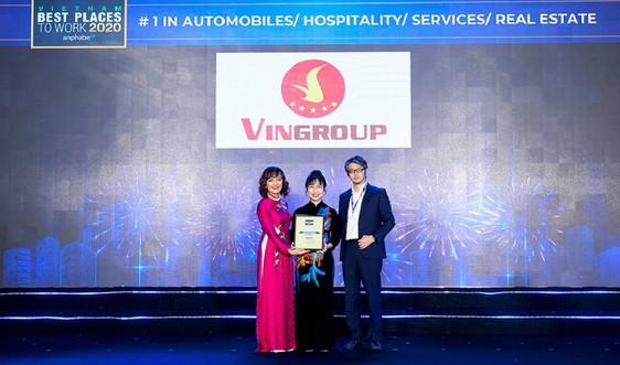 Vingroup là nơi làm việc tốt nhất Việt Nam trong lĩnh vực ô tô, bất động sản, giáo dục, nghỉ dưỡng