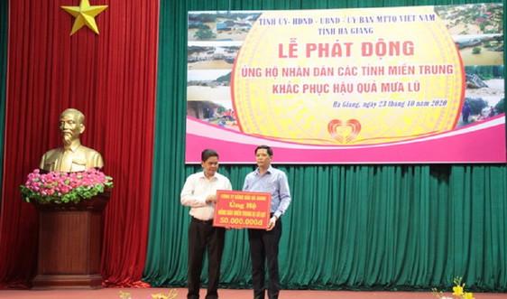 Petrolimex Hà Giang ủng hộ 100 triệu đồng khắc phục hậu quả mưa lũ