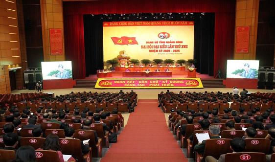 Khai mạc Đại hội Đảng bộ tỉnh Quảng Bình lần thứ XVII nhiệm kỳ 2020-2025