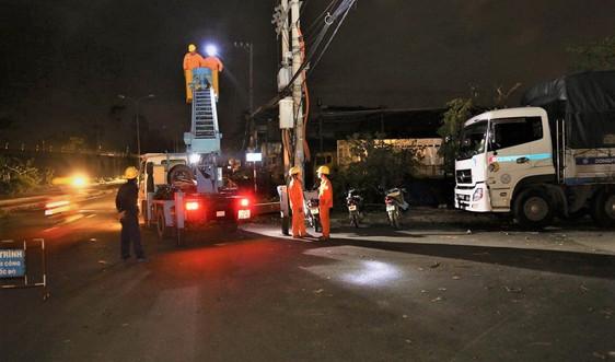 EVNSPC hỗ trợ khắc phục hậu quả cơn bão số 9