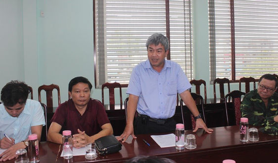 Tổng cục Môi trường đi thực tế, kiểm tra công tác xử lý môi trường sau bão ở Quảng Ngãi