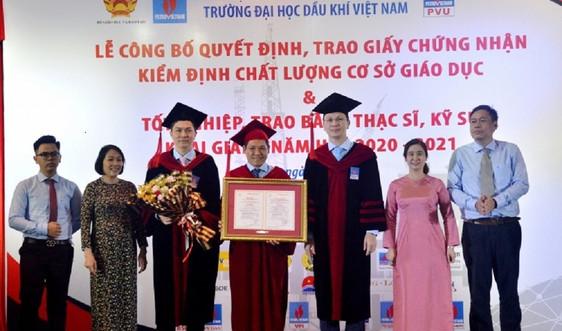 PVU nhận Giấy chứng nhận Kiểm định chất lượng giáo dục