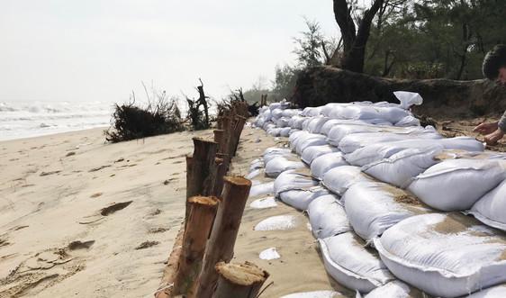 Cận cảnh nhiều km bờ biển Thừa Thiên Huế tan hoang sau mưa bão
