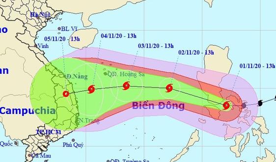 Bão giật cấp 17 tiến nhanh vào Biển Đông; Trung bộ mưa lớn diện rộng
