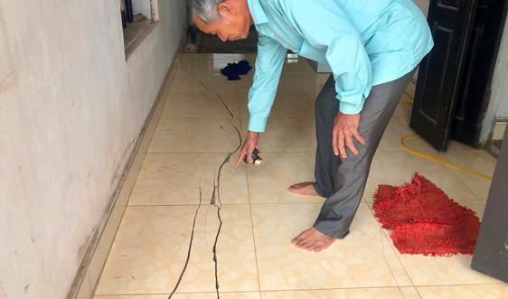 Ninh Bình: Dân tố sụt lún, nứt công trình do thi công Dự án âu Kim Đài