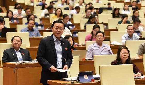 Bộ trưởng Bộ TN&MT Trần Hồng Hà trả lời thẳng thắn các vấn đề nóng trước Quốc hội