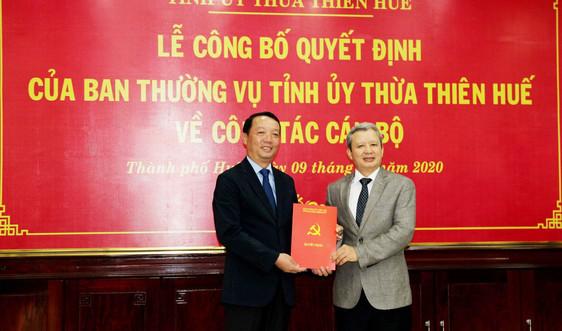 Ông Phan Thiên Định giữ chức vụ Bí thư Thành ủy Huế