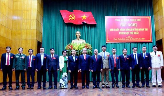 Thừa Thiên Huế phân công nhiệm vụ 15 Uỷ viên Ban Thường vụ Tỉnh uỷ