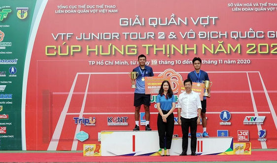 PV GAS đồng hành cùng Giải quần vợt Vô địch Quốc gia năm 2020