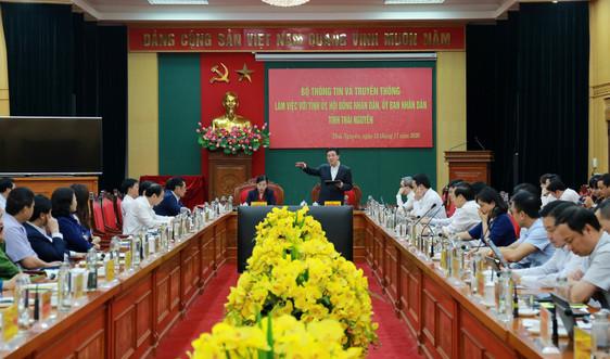 Bộ trưởng Nguyễn Mạnh Hùng: Thái Nguyên cần đẩy nhanh quá trình xây dựng chính quyền số