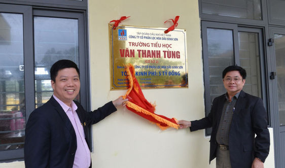 BSR tài trợ Trường Tiểu học Văn Thanh Tùng, tỉnh Quảng Nam