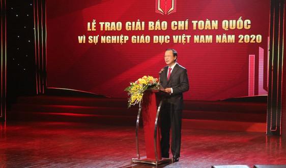 """Vinh danh 50 tác phẩm đạt giải Báo chí """"Vì sự nghiệp Giáo dục Việt Nam"""" 2020"""