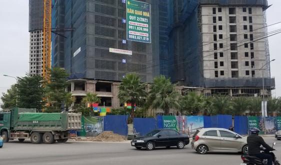 Xây dựng chung cư Tecco Elite City Thái Nguyên lấn chiếm vỉa hè, mất an toàn giao thông