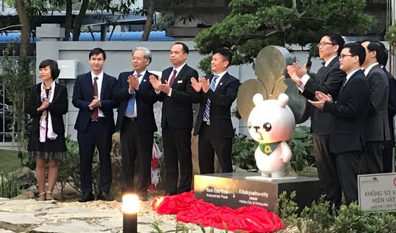 KCN Nam Cầu Kiền ra mắt vườn Nhật ngay trên khuôn viên khu xử lý nước thải
