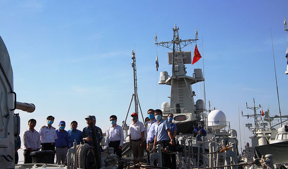 TP Bà Rịa: 50 cán bộ tuyên giáo nghe tuyên truyền biển đảo tại Lữ đoàn 167 Vùng 2 Hải quân