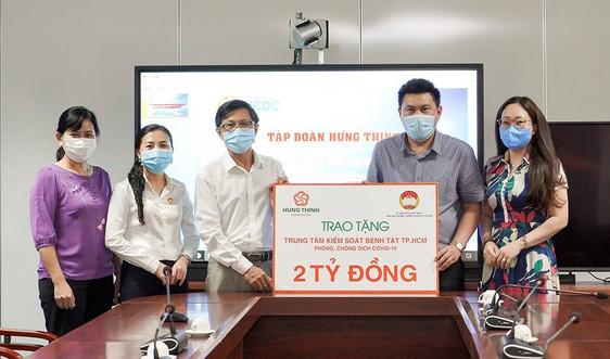 Tập đoàn Hưng Thịnh trao tặng 2 tỷ đồng cho HCDC hỗ trợ phòng, chống dịch Covid-19