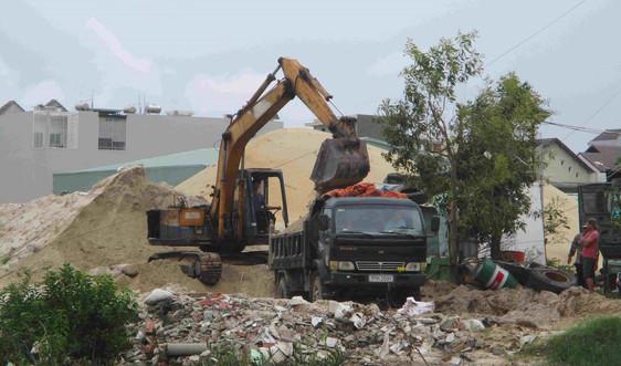 Chủ tịch UBND tỉnh Bình Định chỉ đạo kiểm tra bãi tập kết cát của Công ty Xuân Phát