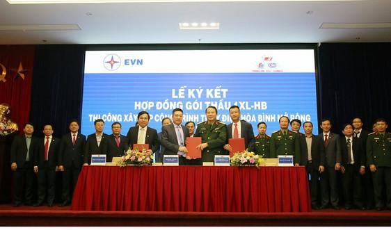 Ký hợp đồng gói thầu thi công Nhà máy Thủy điện Hòa Bình mở rộng