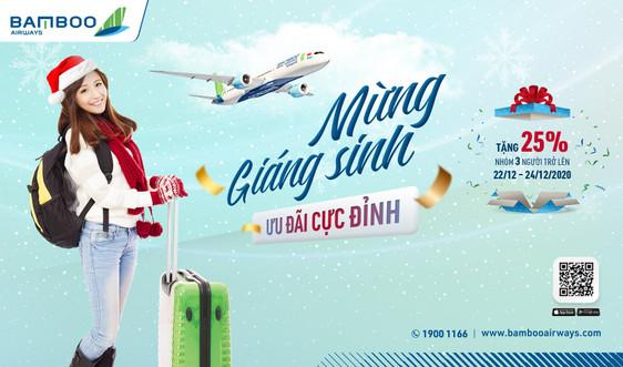 Bamboo Airways tung ưu đãi giảm 25% giá vé cho nhóm khách nhân dịp Giáng Sinh 2020