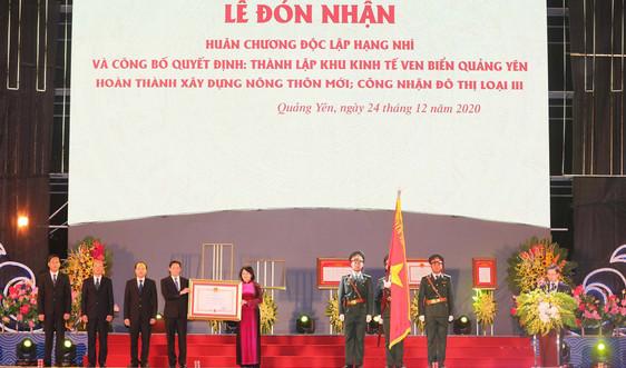 Quảng Ninh: TX.Quảng Yên đón nhận Huân chương Độc lập hạng Nhì và Quyết định thành lập KKT ven biển