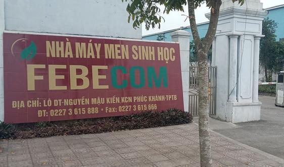 Thái Bình: Công ty Febecom bị xử phạt 350 triệu đồng vì vi phạm môi trường