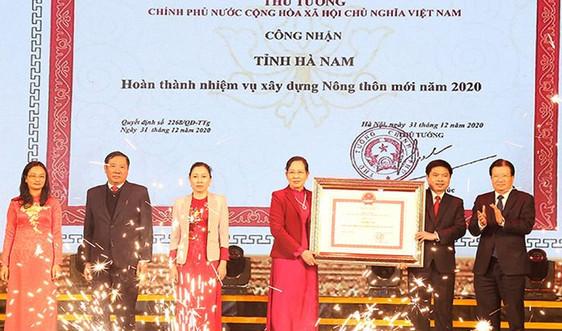 Hà Nam hoàn thành nhiệm vụ xây dựng nông thôn mới năm 2020