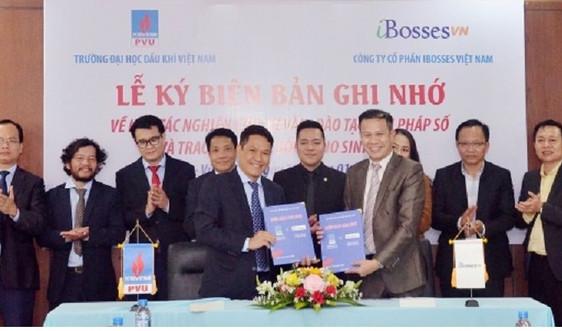 PVU cùng iBosses Việt Nam tăng cường hợp tác nghiên cứu, tư vấn, đào tạo về giải pháp số