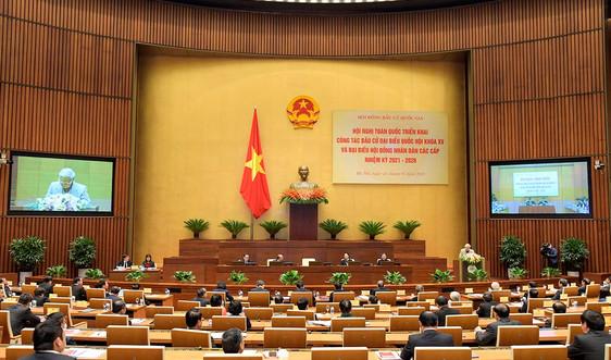 Hội nghị trực tuyến toàn quốc triển khai công tác bầu cử đại biểu Quốc hội khóa XV và đại biểu HĐND các cấp nhiệm kỳ 2021-2026