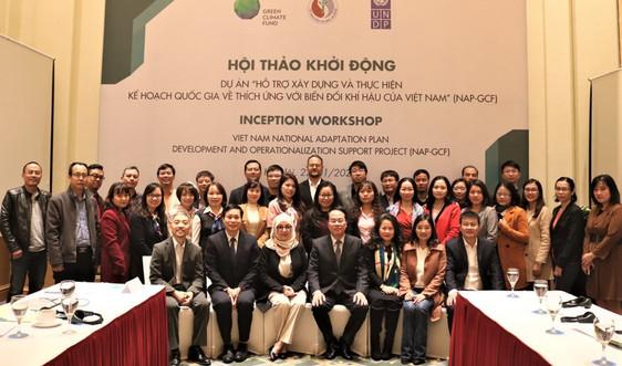 Khởi động Dự án Hỗ trợ xây dựng và thực hiện Kế hoạch quốc gia về thích ứng biến đổi khí hậu