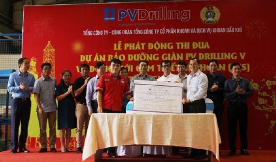 PV Drilling phát động thi đua cao điểm dự án bảo dưỡng và đóng mới cụm thiết bị khoan giàn PV DRILLING V