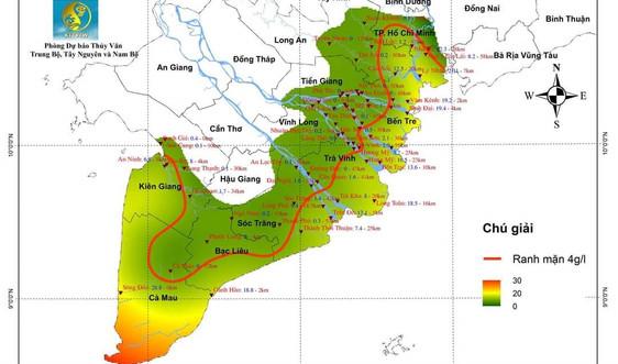 Đồng bằng sông Cửu Long sẽ xuất hiện đợt xâm nhập mặn mới