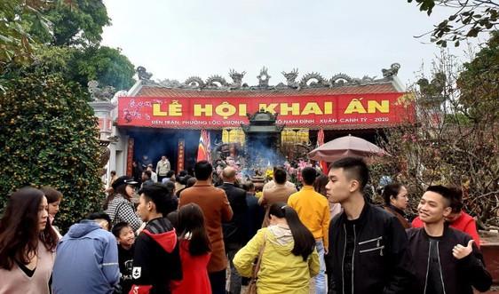 Nam Định: Dừng tổ chức Lễ Khai ấn đền Trần và Lễ hội chợ Viềng xuân Tân Sửu