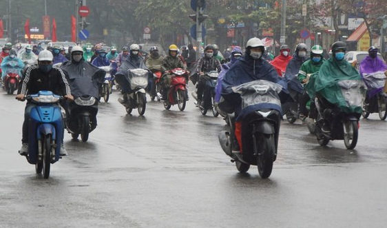 Thời tiết ngày 1/2, Bắc Bộ mưa rét, nhiệt độ thấp nhất dưới 13 độ