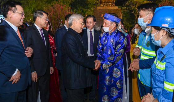 Tổng bí thư, Chủ tịch nước Nguyễn Phú Trọng thăm, chúc Tết Đảng bộ, Chính quyền và Nhân dân Thủ đô