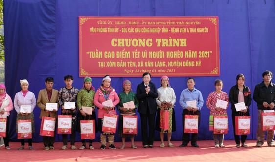 Thái Nguyên: Tổ chức tuần cao điểm Tết vì người nghèo năm 2021.