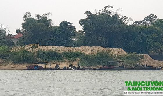 Cẩm Thủy (Thanh Hóa): Giấy phép hết hạn, mỏ cát Công ty Hợp Thịnh vẫn ngang nhiên hoạt động