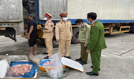 """Thanh Hóa: Bắt giữ xe đầu kéo vận chuyển 10 tấn """"thực phẩm bẩn"""""""