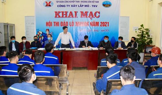 Công ty Xây lắp mỏ - TKV Khai mạc Hội thi đào lò nhanh năm 2021